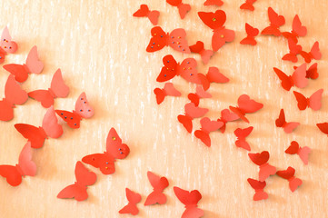 decorative red butterflies