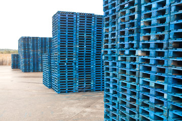 pallets in the warehouse