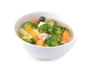 Thai healthy food boiled  broccoli