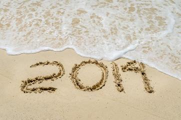 Año viejo 2014 en la playa