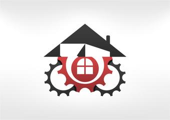 repair house logo icon symbol design