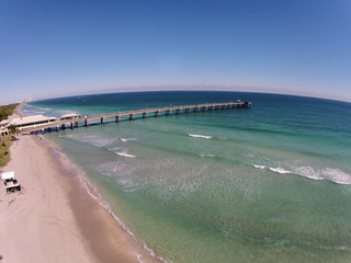 Fishing pier aerial view