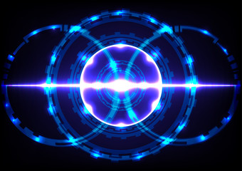 Abstract technology circle effect light blue  background