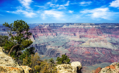 Dramatic view of the Grand Canyon South Rim