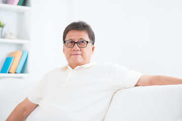 Mature Asian man portrait