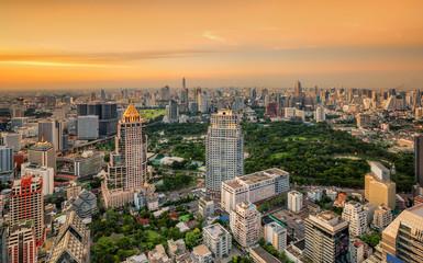 landscape of City big garden in Bangkok