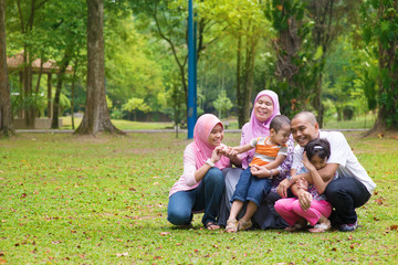 Asian Muslim family lifestyle