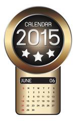 June calendar 2015 Fiber Background