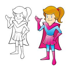 Young Girl Super Hero