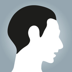 the head of person vector design