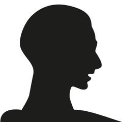 the head of person vector design