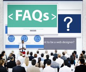 Business People Presentation Seminar FAQs