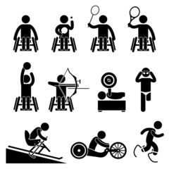 Disable Handicap Sport ParalympicGames Cliparts