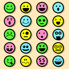 20 Emotional Icons Sets