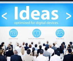 Business People Ideas Web Design Concepts