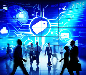 Access Internet Global Business People Security Code