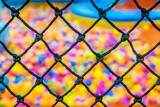 A safety net in indoor playground room poster
