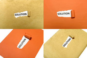 Solution Word On Paper