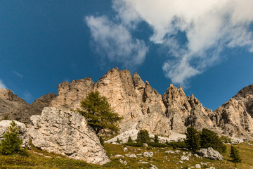 craggy peaks in Dolomites, South Tyrol