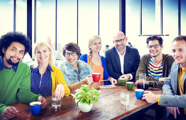 People Cheerful Team Study Group Diversity