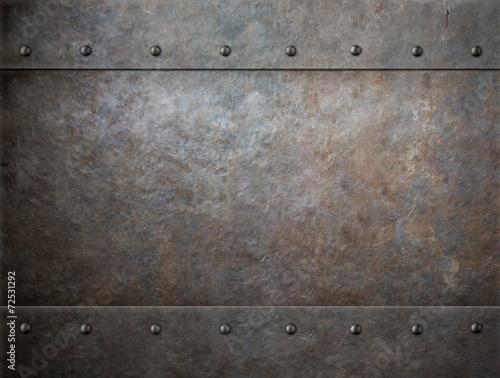 Leinwandbild Motiv old rusty metal background