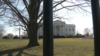 U.S. White House Behind the Fence