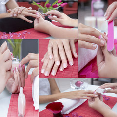 manicure treatment collage