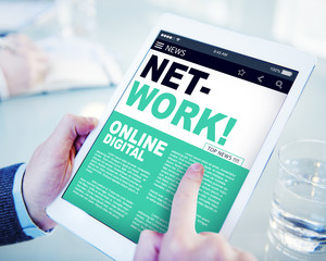 Digital Online News Headline Network Concepts