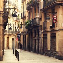 Rue dans le quartier gothique de Barcelone.