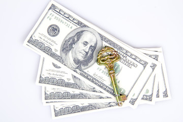 Dollars and A Key