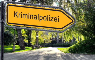 Strassenschild 25 - Kriminalpolizei