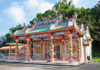 colorful chinese temple,chanthaburi, Thailand