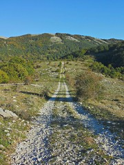 Una strada in montagna