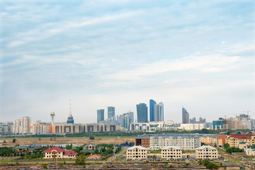 Сloudy sky over Astana, Kazakhstan