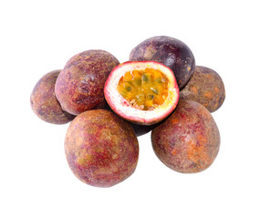 Passion fruit with white background