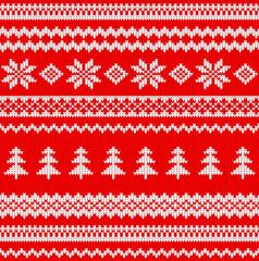nahtloses gestricktes weihnachtliches Muster