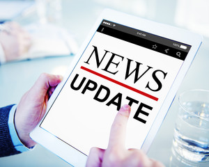 Digital Online News Headline Update Concepts