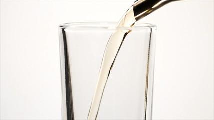Single Shot Glass Pour, Close Up