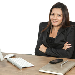 Young business woman attractive laptop working on table