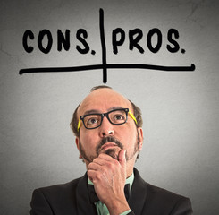 pros and cons, for and against argument motivation concep