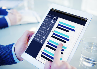 Businessman Accounting Report Analysis Concepts