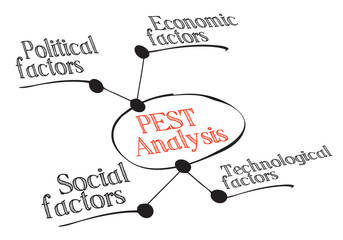 PEST Diagram of the macro-environmental factors