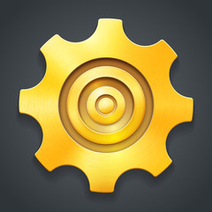 Golden icon of settings