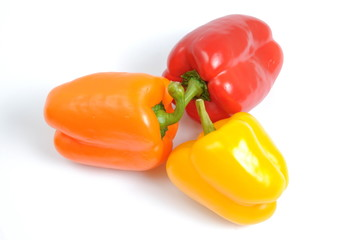 Colorful bell peppers with clipping path
