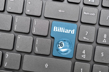 Billiard key on keyboard