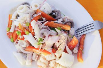 Burmese seafood salad