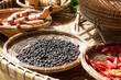 thai herb spices ingredients set