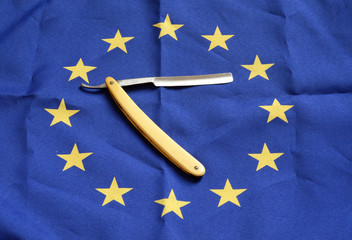 razor with european flag