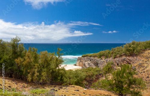 Papiers peints Ile trou d'Argent, plage de rêve de l'île Rodrigues