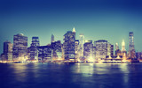 New York City Panorama Night Concepts